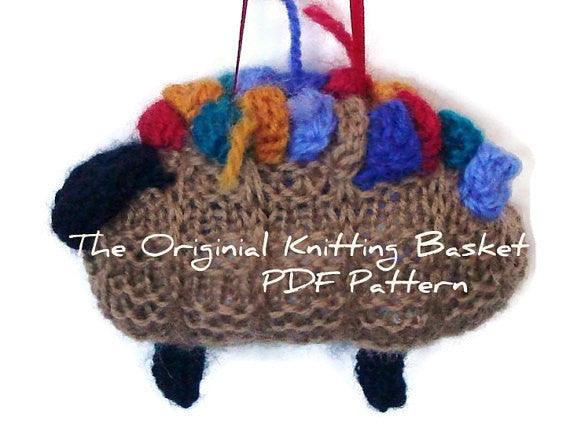 "PDF Sheep Pattern ""The Original Knitting Basket"" - Buttermilk Cottage - 1"