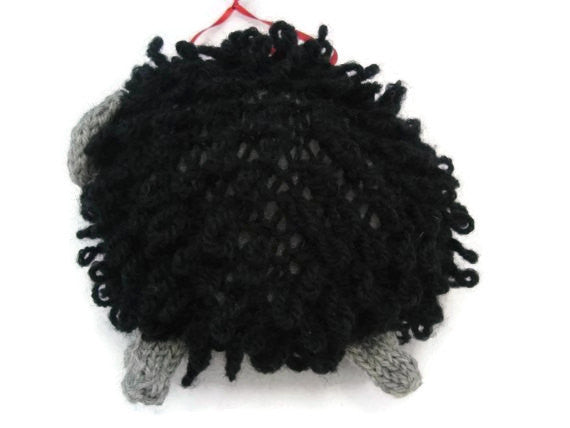 "Sheep Ornament Knitting Kit ""Baa Baa, the Black Sheep"" - Buttermilk Cottage - 2"