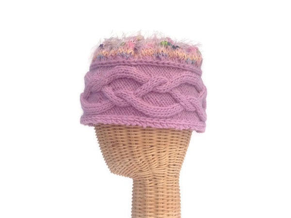 Cloche Celtic Cable Pink - Buttermilk Cottage - 3