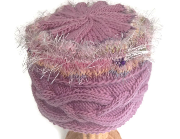 Cloche Celtic Cable Pink - Buttermilk Cottage - 4