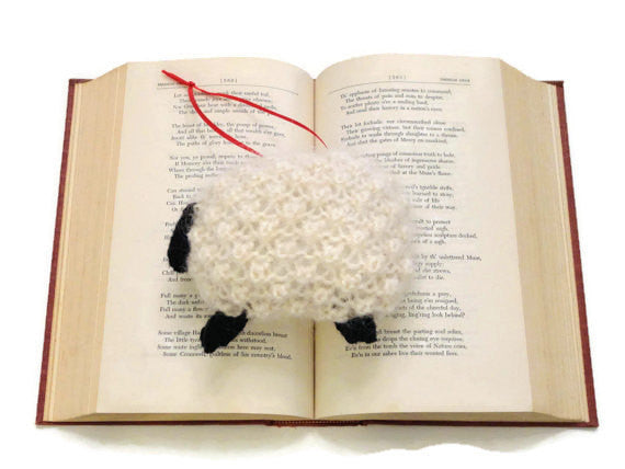 "Hand Knit Sheep Ornament ""Bo Peep's Sheep"" - Buttermilk Cottage - 1"