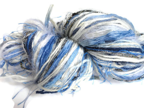 Blue and White FUSION Yarn - Buttermilk Cottage - 1