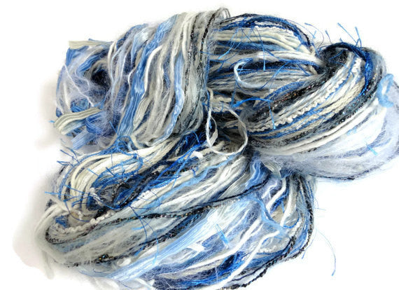 Blue and White FUSION Yarn - Buttermilk Cottage - 3