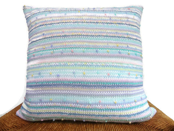 Sweater Pillow Single Pastel Knit - Buttermilk Cottage - 1