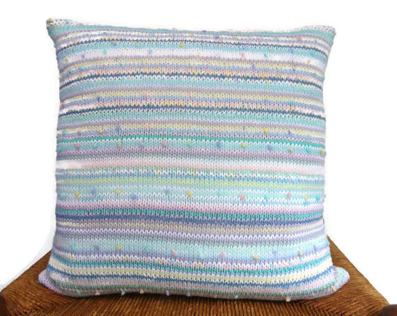 Sweater Pillow Single Pastel Knit - Buttermilk Cottage - 3
