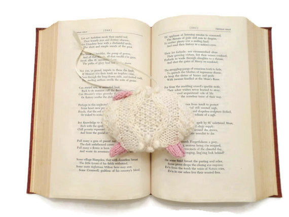 "Hand Knit Sheep Ornament ""Mary's Little Lamb"" - Buttermilk Cottage - 2"