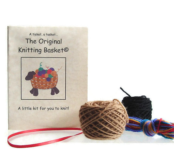 "Sheep Ornament Knitting Kit ""The Original Knitting Basket"" - Buttermilk Cottage - 1"