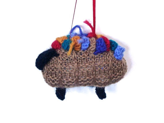 "Sheep Ornament Knitting Kit ""The Original Knitting Basket"" - Buttermilk Cottage - 4"
