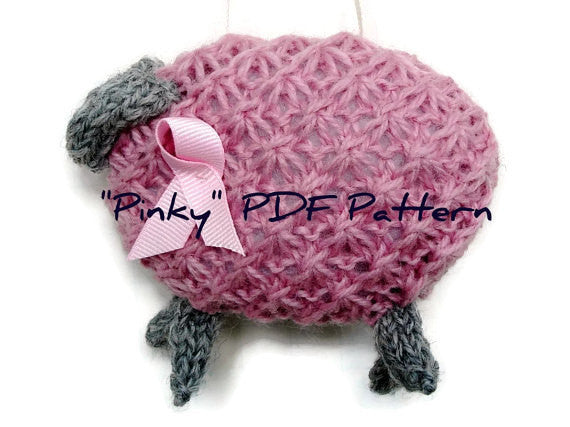 "PDF Sheep Pattern ""Pinky, Pretty Pink Ewe"" - Buttermilk Cottage - 1"
