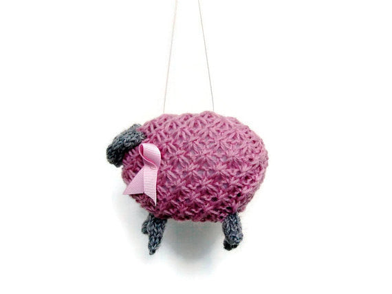 "PDF Sheep Pattern ""Pinky, Pretty Pink Ewe"" - Buttermilk Cottage - 4"