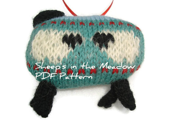 "Sheep Ornament Knitting Kit ""The Sheep in the Meadow"" - Buttermilk Cottage - 4"