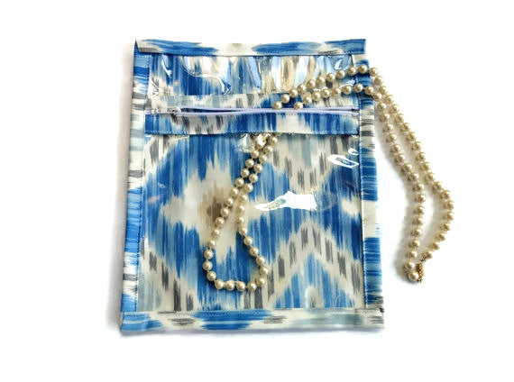 Accessory Bag in Blue Ikat - Buttermilk Cottage - 2
