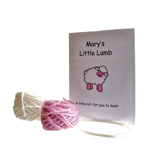 "Hand Knit Sheep Ornament ""Mary's Little Lamb"" - Buttermilk Cottage - 4"