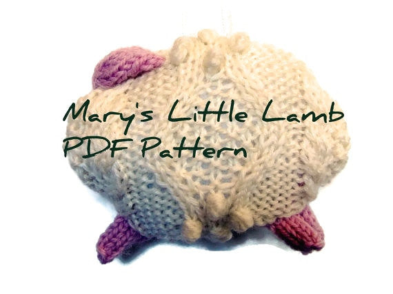 "Hand Knit Sheep Ornament ""Mary's Little Lamb"" - Buttermilk Cottage"