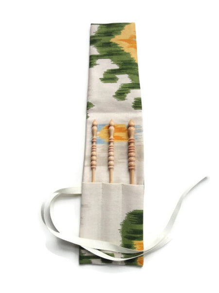 Crochet Hooks for Knitters Green Ikat - Buttermilk Cottage - 2