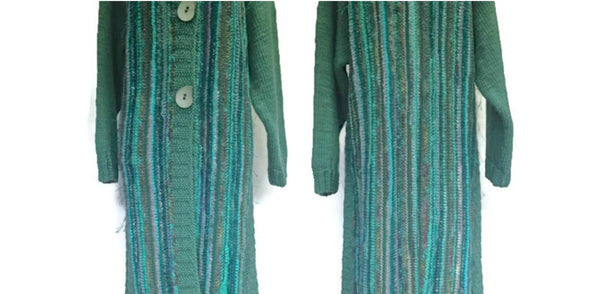 Full Length Coat Aqua FUSION - Buttermilk Cottage