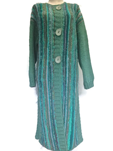 Full Length Coat Aqua FUSION - Buttermilk Cottage - 1