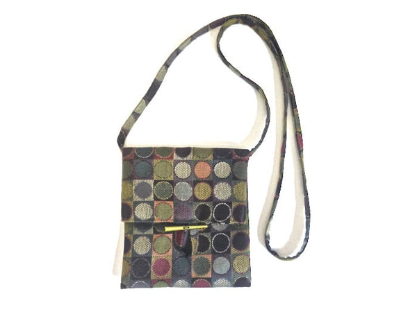 Tag Along Bag Green Circle Motif - Buttermilk Cottage - 3