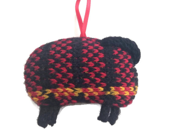 Up Cycled Plaid Sheep Ornament - Buttermilk Cottage - 2