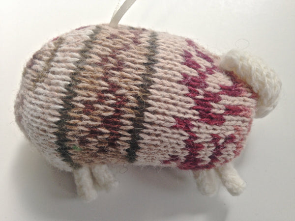 Up Cycled Fair Isle Sheep Ornament - Buttermilk Cottage - 5