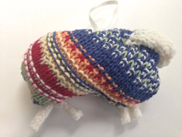 Up Cycled Fair Isle Sheep Ornament - Buttermilk Cottage - 4