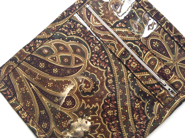 Accessory Bag Brown Paisley - Buttermilk Cottage