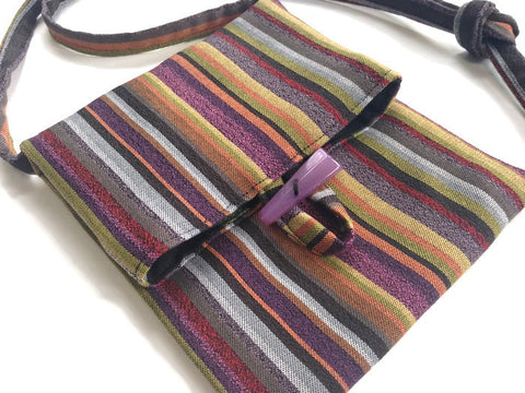 Tag Along Bag Purple Stripe - Buttermilk Cottage - 1