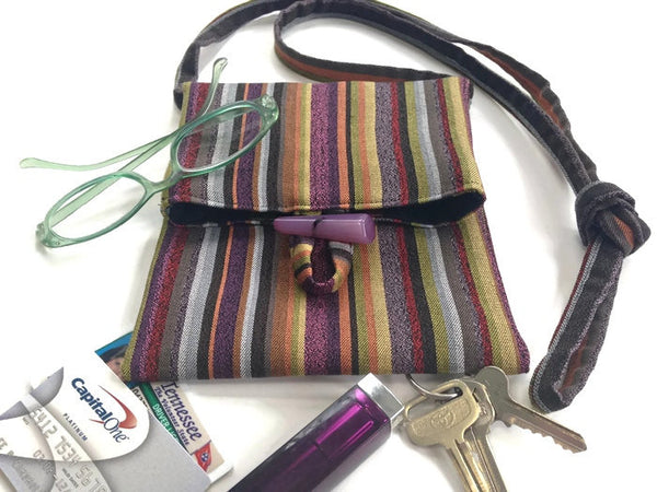 Tag Along Bag Purple Stripe - Buttermilk Cottage - 3