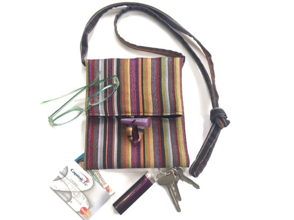 Tag Along Bag Purple Stripe - Buttermilk Cottage - 4