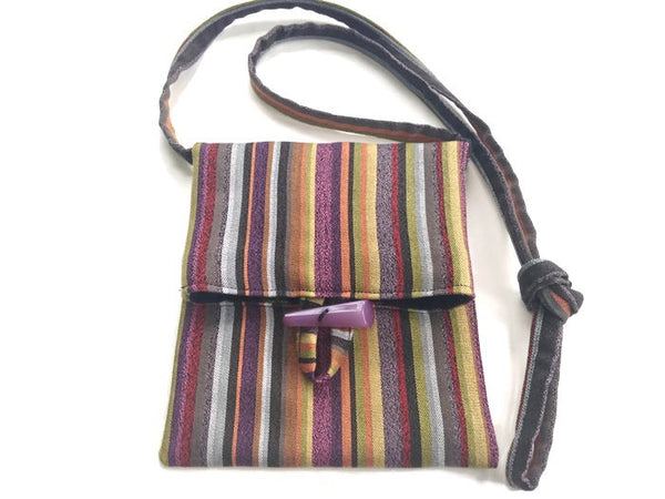 Tag Along Bag Purple Stripe - Buttermilk Cottage - 2