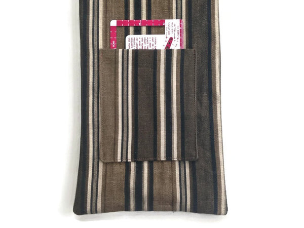 Hanging Circular Needle Organizer Brown & Black Stripe - Buttermilk Cottage - 4