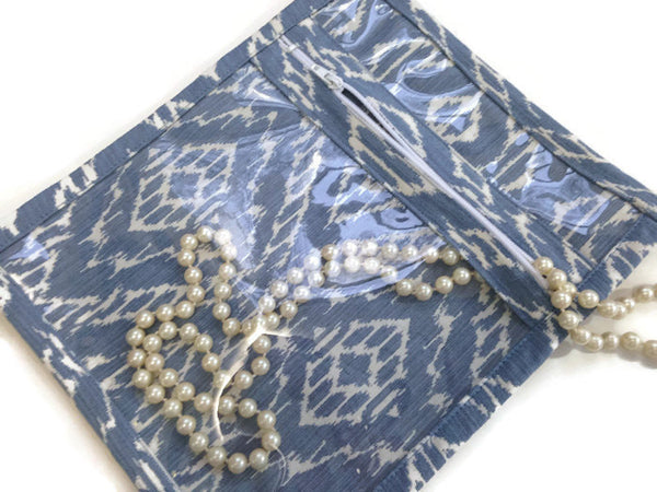 Accessory Bag in Blue Diamond - Buttermilk Cottage - 3