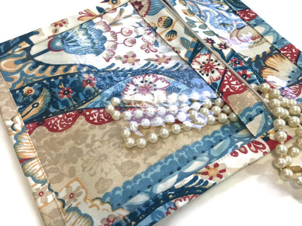 Accessory Bag Blue Floral Print - Buttermilk Cottage - 4