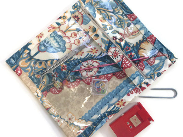 Accessory Bag Blue Floral Print - Buttermilk Cottage - 5