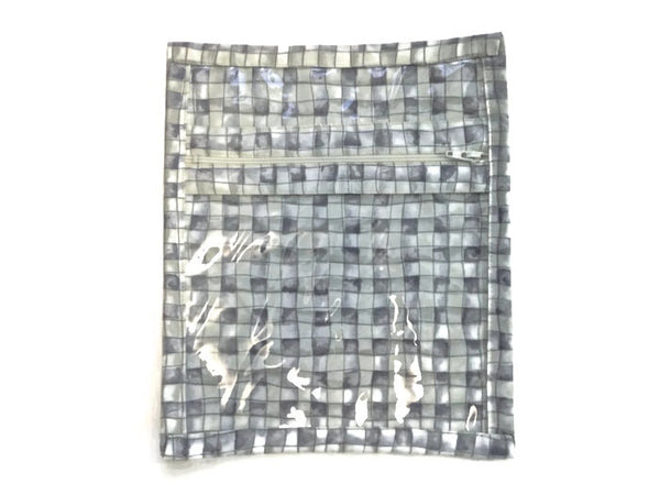 Accessory Bag in Gray Grid - Buttermilk Cottage - 2