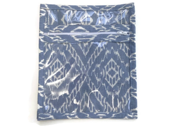 Accessory Bag in Blue Diamond - Buttermilk Cottage