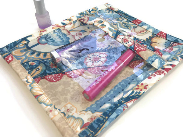 Accessory Bag Blue Floral Print - Buttermilk Cottage - 3