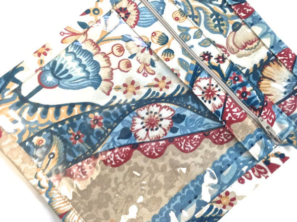 Accessory Bag Blue Floral Print - Buttermilk Cottage - 1