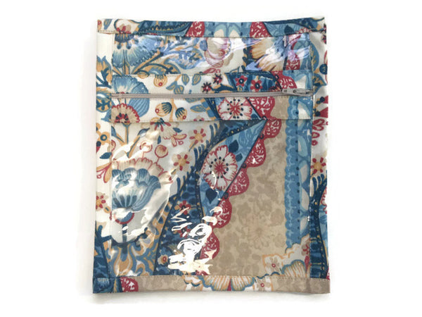 Accessory Bag Blue Floral Print - Buttermilk Cottage - 2
