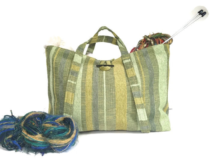 The Large Knitting Bag - Buttermilk Cottage
