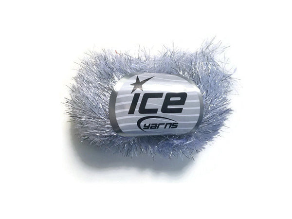 Yarn ICE Silver Faux Fur  Metallic Eyelash - Buttermilk Cottage - 4