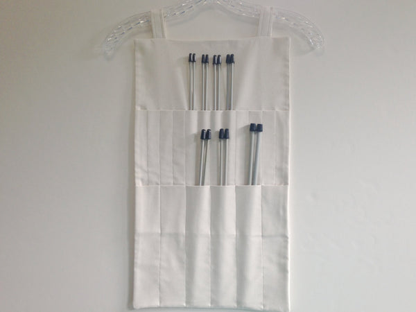 Hanging Organizer Straight Needles 10 OR 14-Inch Basic Off White - Buttermilk Cottage - 5