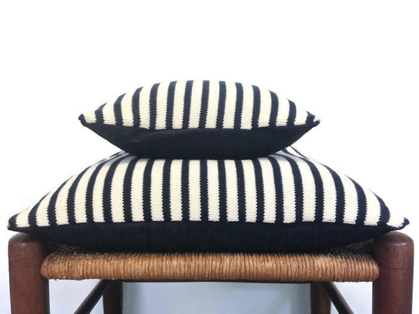 Sweater Pillow Set Navy Stripe - Buttermilk Cottage - 4