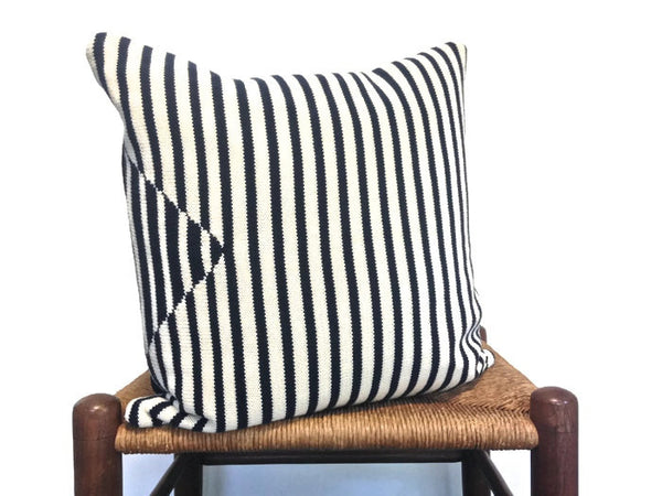 Sweater Pillow Set Navy Stripe - Buttermilk Cottage - 2