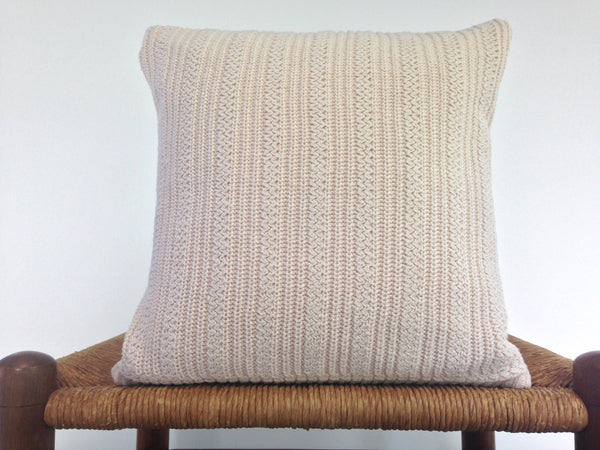 Sweater Pillow Set Off White Textured Knit - Buttermilk Cottage - 3