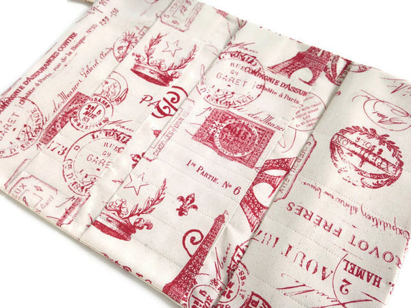 Hanging DPN Organizer Red French Icon Fabric - Buttermilk Cottage - 5