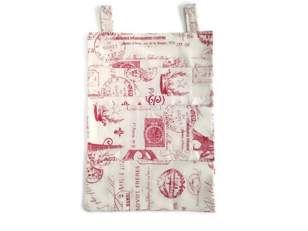 Hanging DPN Organizer Red French Icon Fabric - Buttermilk Cottage - 3
