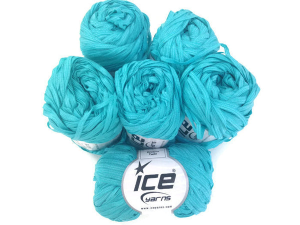 Yarn ICE Ribbon Twin Turquoise - Buttermilk Cottage - 4