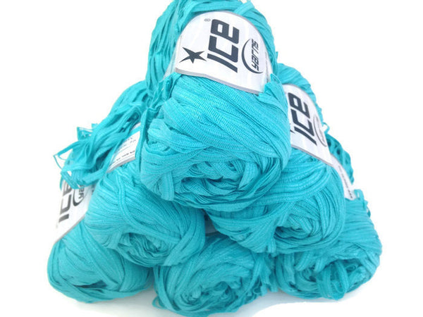 Yarn ICE Ribbon Twin Turquoise - Buttermilk Cottage - 5