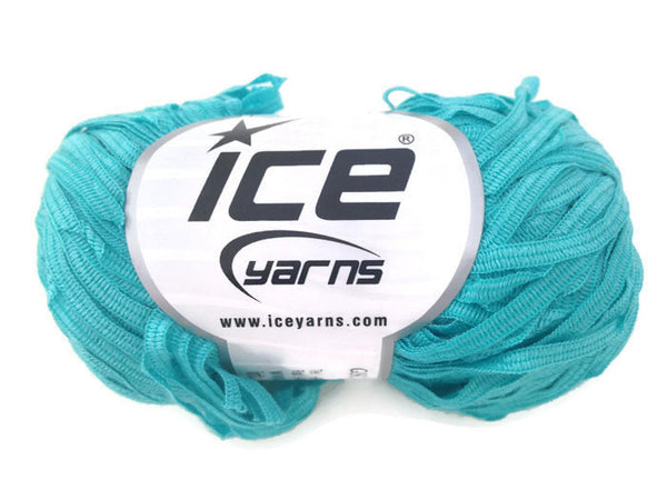 Yarn ICE Ribbon Twin Turquoise - Buttermilk Cottage - 1